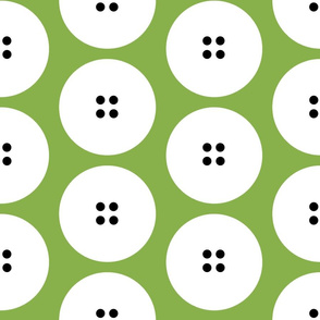 GIANT button polka dots on green by Su_G