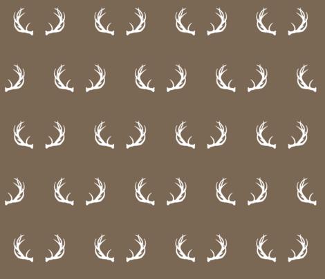 antlers // Lumberjack - scarlet-ch fabric by buckwoodsdesignco on Spoonflower - custom fabric