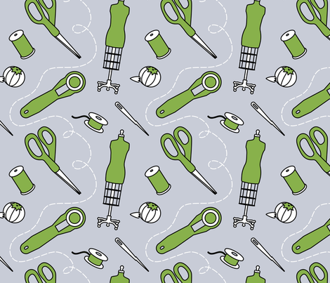 sew-sweet fabric by wattenberger on Spoonflower - custom fabric