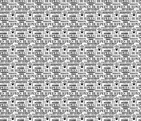 I love burpees white  fabric by lub_by_lamb on Spoonflower - custom fabric
