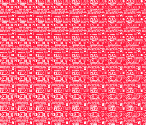 I love burpees red fabric by lub_by_lamb on Spoonflower - custom fabric