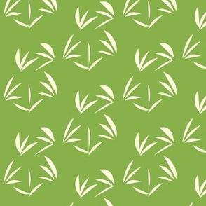 Magnolia Cream Oriental Tussocks on Ferny Green