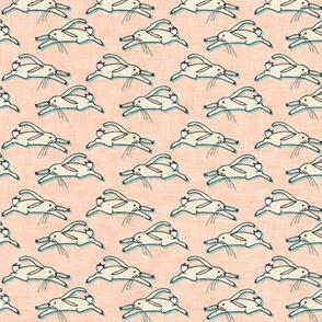 Ambrosia Run Bunny Run (peach linen)