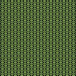 Chevron Darts - Deep Black on Ferny Green-ch
