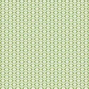 Chevron Darts - Ferny Green on Snowy White
