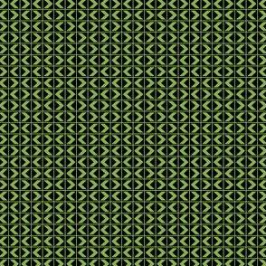 Chevron Darts - Ferny Green on Deep Black