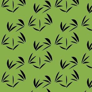 Deep Black Oriental Tussocks on Ferny Green
