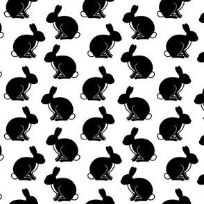 b&w bunnies
