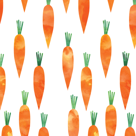 carrots  fabric by littlearrowdesign on Spoonflower - custom fabric