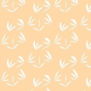 Snowy White Oriental Tussocks on Cantaloupe