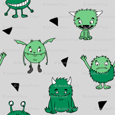 all the monsters (small scale) || dark green