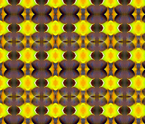 neon and mocha fabric by automatix6 on Spoonflower - custom fabric