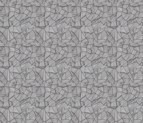 Lined shapes, segment-/gray fabric by unclemamma on Spoonflower - custom fabric