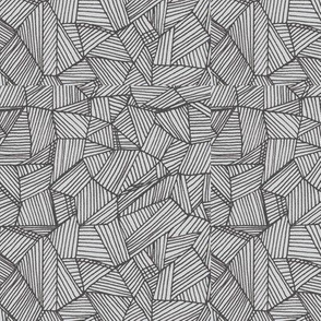 Lined shapes, segment-/gray