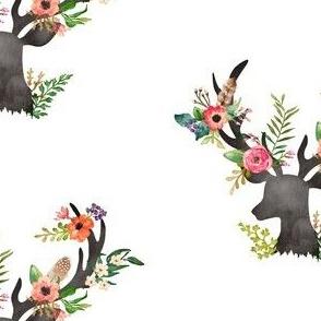 """5.25"""" Floral Deer"""