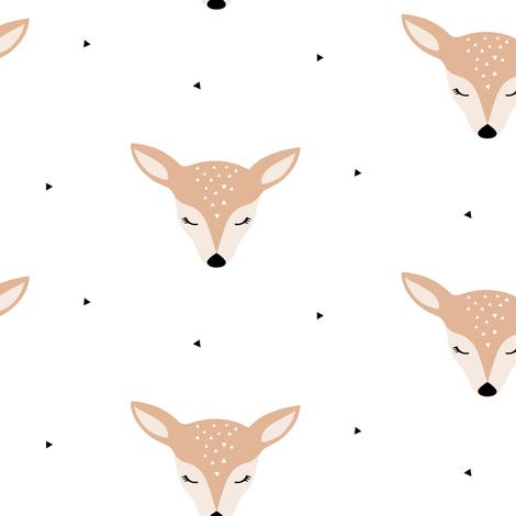 Deer fabric by kimsa on Spoonflower - custom fabric