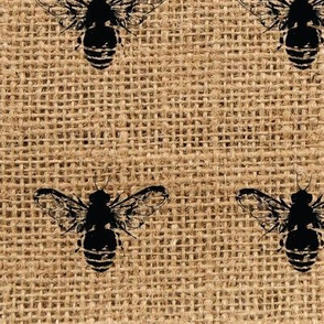 Bees on Burlap