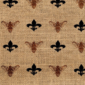 Fleur de Bees Light Bees on Burlap