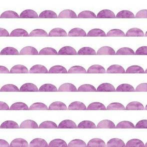 scallops || watercolor purple