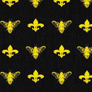 Fleur de Bees Black and Gold