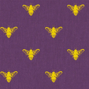 Purple and Honey Gold Bees