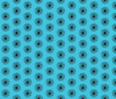 Seeds - blue fabric by mattieanne on Spoonflower - custom fabric