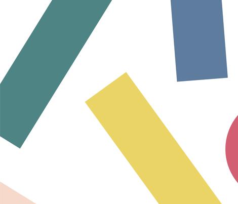 Geometric Shapes fabric by bashfulbirdie on Spoonflower - custom fabric