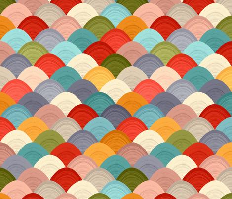 yarn hill dollops summer small fabric by scrummy on Spoonflower - custom fabric