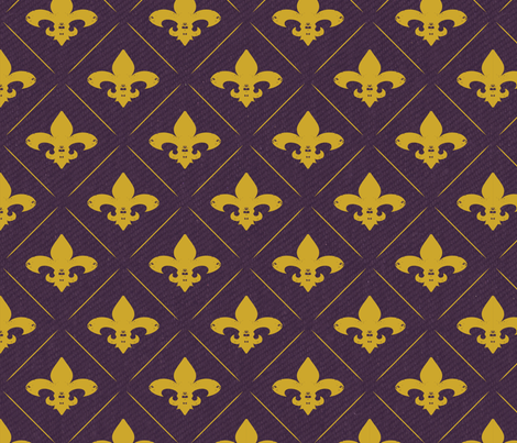 purplefleurlines fabric by tracy_dixon on Spoonflower - custom fabric