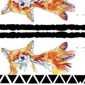 Kissing Fox Mirror