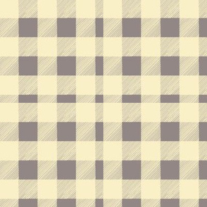 HandDrawn Yellow and Gray Plaid