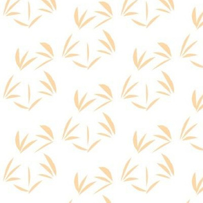 Cantaloupe Oriental Tussocks on Snowy White