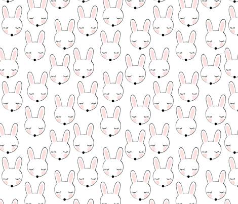 asymmetrical bunnies fabric by lilcubby on Spoonflower - custom fabric