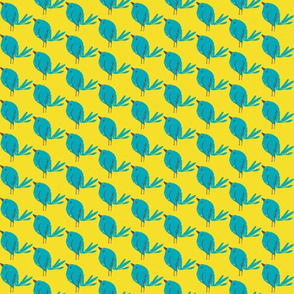 Blue Bird Yellow Linen