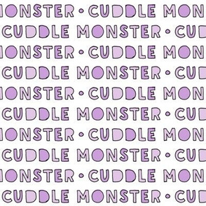 cuddle monster || purple