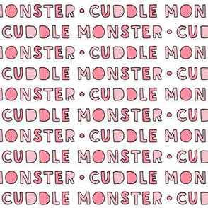cuddle monster || pink