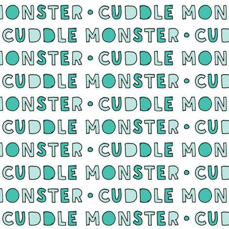cuddle monster || green fabric by littlearrowdesign on Spoonflower - custom fabric