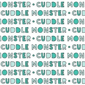 cuddle monster || green