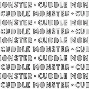 cuddle monster || grey