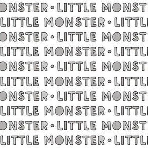 little monster typography || grey