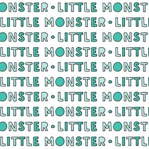 little monster typography || green