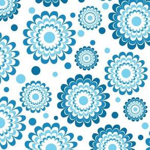 Funky Blue Flowers