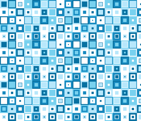 Retro blue squares fabric by thatsgraphic on Spoonflower - custom fabric