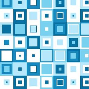 Retro blue squares
