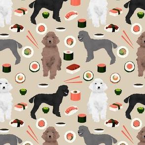 poodles dog sushi fabric cute poodle coats dog colors dog fabric sushi lover khaki
