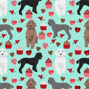 poodles valentines day love fabric cute poodle dog design poodles valentines aqua