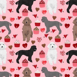 poodles valentines day love fabric cute poodle dog design poodles valentines blossom pink