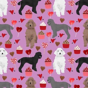 poodles valentines day love fabric cute poodle dog design poodles valentines grey