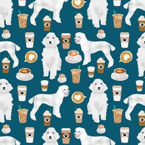 poodles coffee fabric cute white poodle coffee design best coffees and poodles fabrics sapphire blue