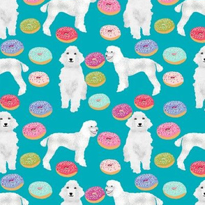 poodles and donuts fabric cute pastel donut junk food design white poodles fabric